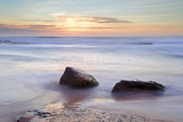 Morning light over the ocean at Bungan Beach Newport Stock photo © lovleah