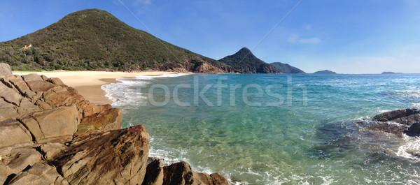 Destruir praia porta parque lata caminhada Foto stock © lovleah
