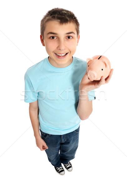 Child holding a money box Stock photo © lovleah