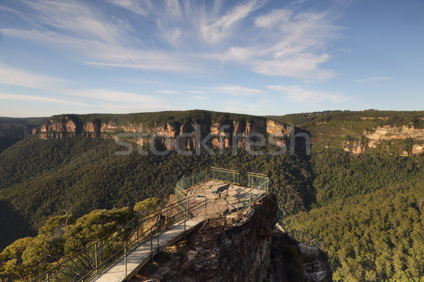Early morning at Pulpit Rock Blue Mountains Australia Stock photo © lovleah