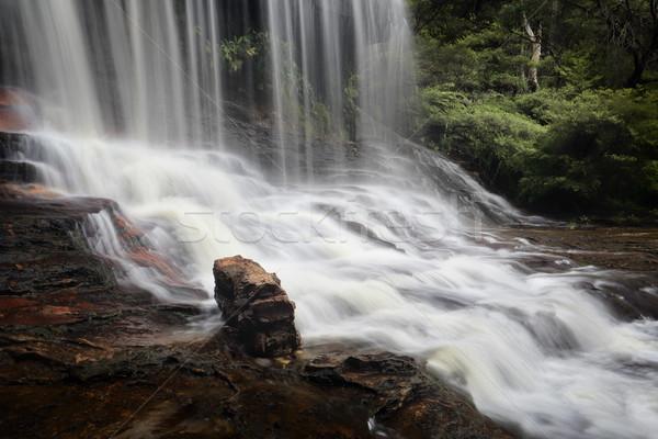 Weeping Rock Blue Mountains Australia Stock photo © lovleah