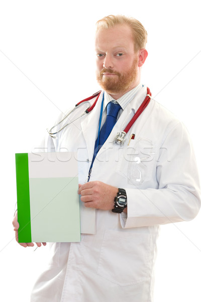 Doctor with Medical Facts Stock photo © lovleah