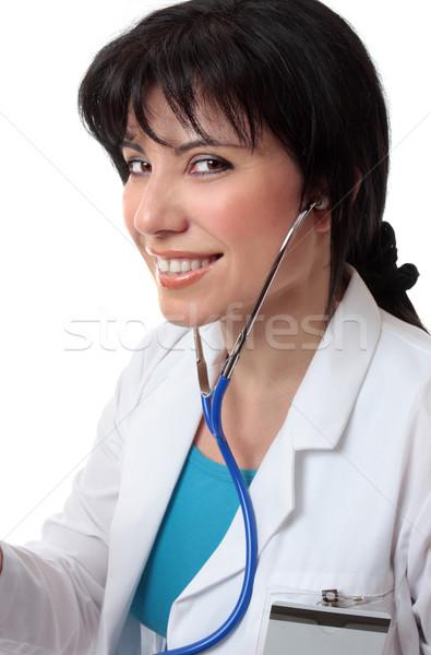 медицинской практикующий врач женщины врач дружественный улыбка Сток-фото © lovleah