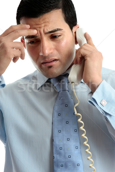 Stressed  depressed man businessman on phone Stock photo © lovleah