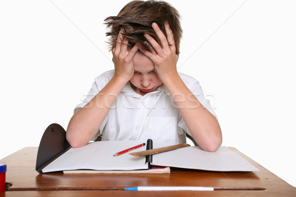 Stock photo: Child with learning difficulties