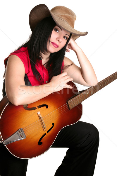 Woman with acoustic guitar Stock photo © lovleah