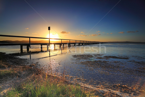 Sun Setting at Long Jetty, Australia Stock photo © lovleah