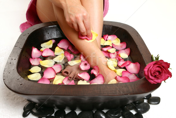 Relaxing Foot spa Stock photo © lovleah