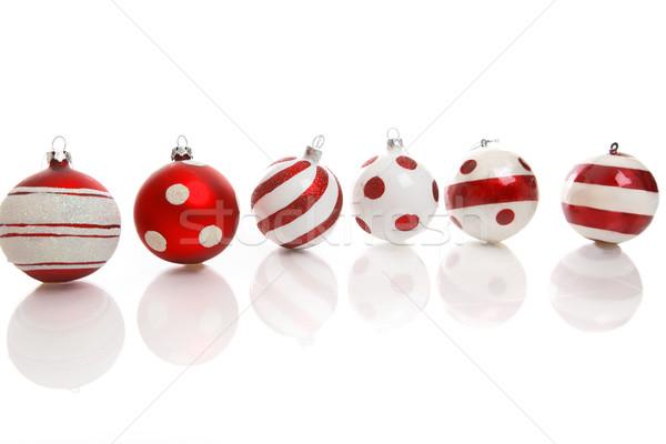 Chuchería decoraciones rojo blanco Navidad espacio Foto stock © lovleah
