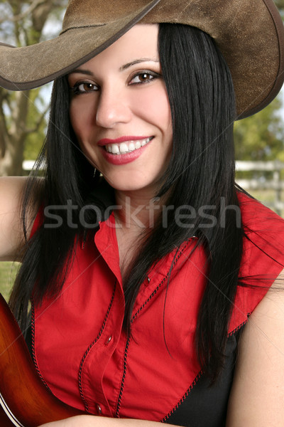 Smiling Female Country Life Stock photo © lovleah
