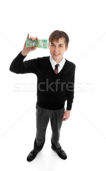 Efectivo dinero adolescente hasta Foto stock © lovleah