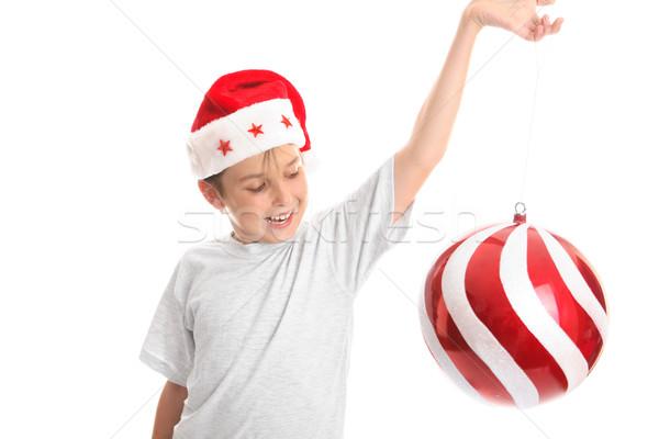 ストックフォト: 子 · クリスマス · 安物の宝石 · スピン · 周りに