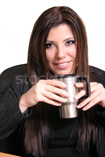 Zakenvrouw mooie vergadering bureau Stockfoto © lovleah