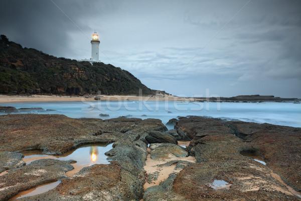 Testa faro rocce molti centrale costa Foto d'archivio © lovleah