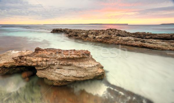 Foto d'archivio: Soft · pastello · colori · sunrise · spiaggia · Australia
