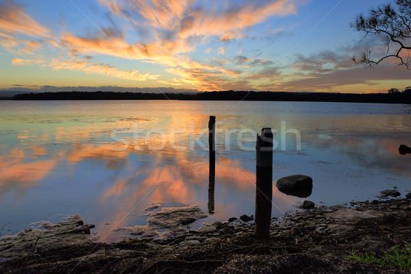 Sunset reflections Stock photo © lovleah