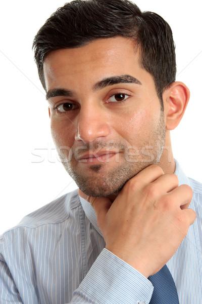 Confident businessman thinking Stock photo © lovleah