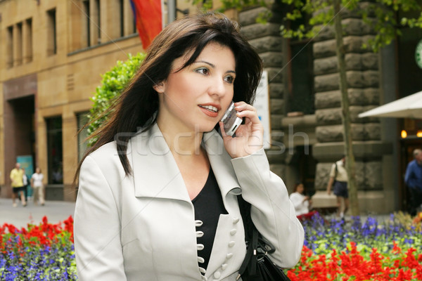 Busy businesswoman or office worker Stock photo © lovleah