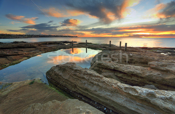 Natural rock pool, South Coogee Australia Stock photo © lovleah