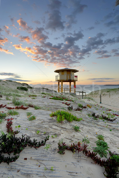 Wanda Beach Surf Life Guard  Lookout Tower at sunrise Stock photo © lovleah