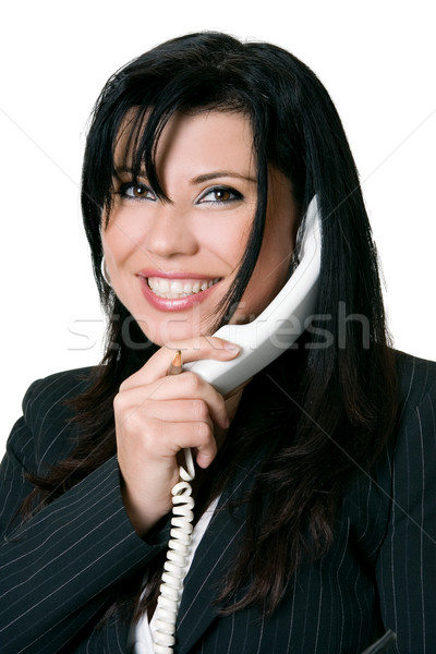 Friendly telephone manner Stock photo © lovleah