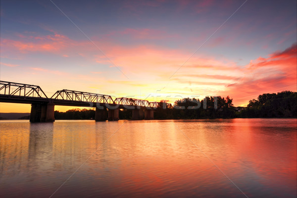 Spectacular Sunset over Nepan River Penrith Stock photo © lovleah