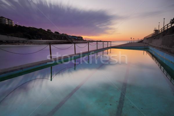 Dawn at Clovelly Pool Sydney Stock photo © lovleah