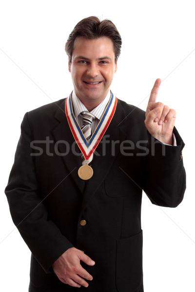 Legelső üzlet üzletember vállalati magas díjak Stock fotó © lovleah