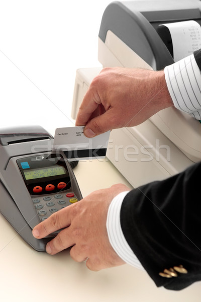 credit or bank card retail transaction Stock photo © lovleah