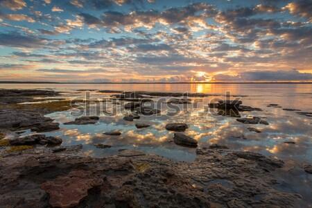 Güzel gündoğumu düşük gelgit konum su Stok fotoğraf © lovleah