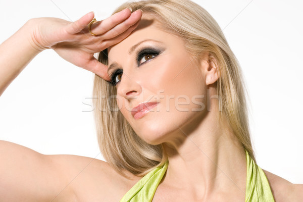 Beautiful confident woman with blonde hair Stock photo © lovleah