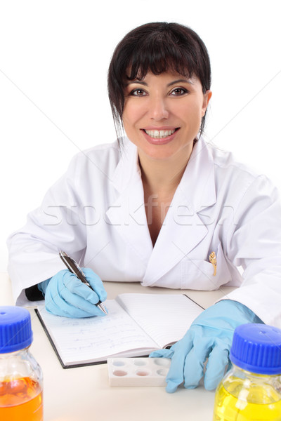 Smiling research scientist Stock photo © lovleah