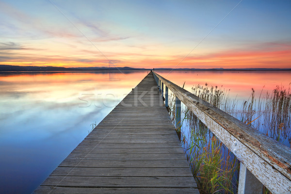 Sunset at Long Jetty Tuggerah Lake NSW Australia Stock photo © lovleah