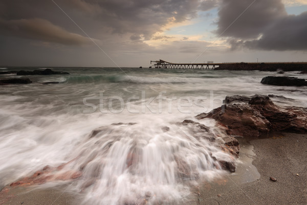 Shell Cove flows on a stormy day Stock photo © lovleah