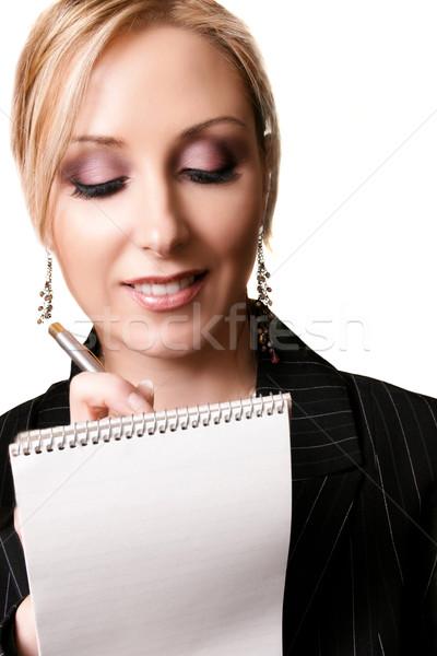 Beautiful Female taking dictation Stock photo © lovleah