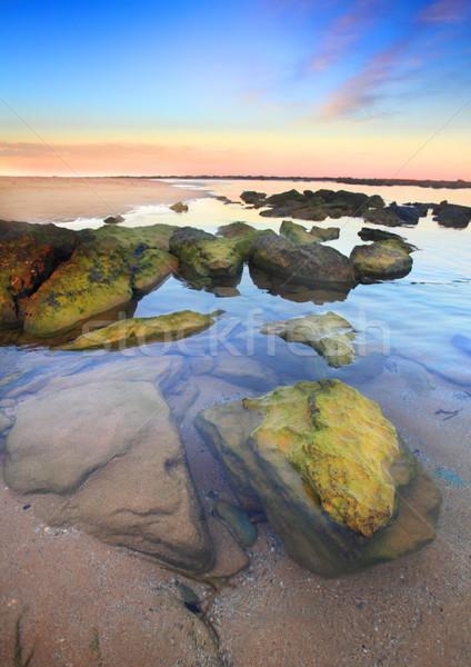 Sunset Toowoon Bay, Australia Stock photo © lovleah