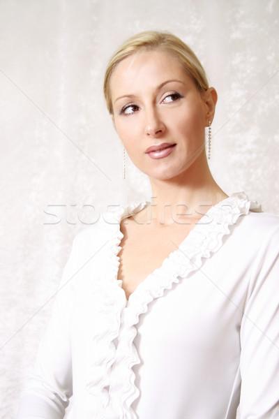 Mulher branco mulheres beleza meninas Foto stock © lovleah