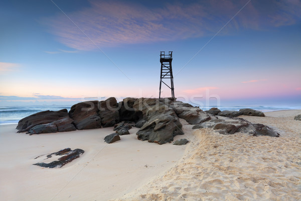 Redhead Beach, NSW Australia just before sunrise Stock photo © lovleah