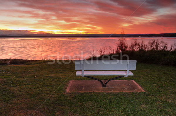 Sunset over St Georges Basin, NSW Australia  Stock photo © lovleah