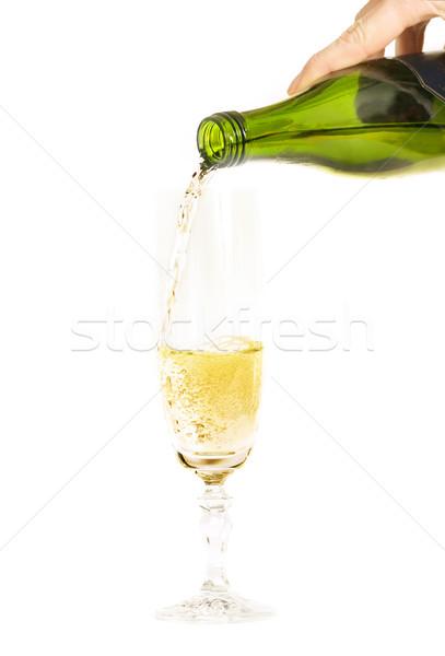 шампанского флейта стекла высокий вино Сток-фото © lovleah