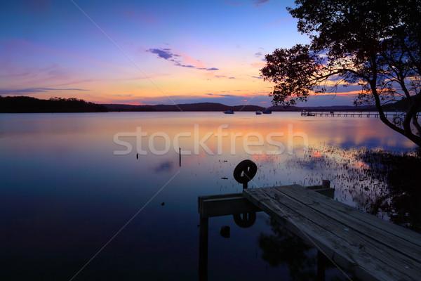 Sunset reflections Kincumber, Australia Stock photo © lovleah