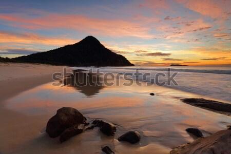 Reflections Zenith Beach Port Stephens Stock photo © lovleah