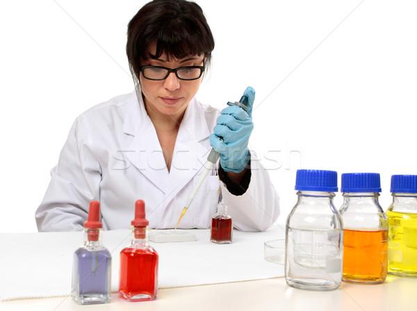 ученого пластина лаборатория исследований женщину медицинской Сток-фото © lovleah
