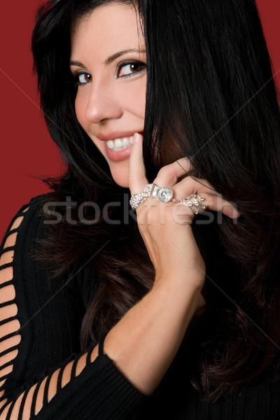 Vivacious Woman Cheeky Smile Stock photo © lovleah