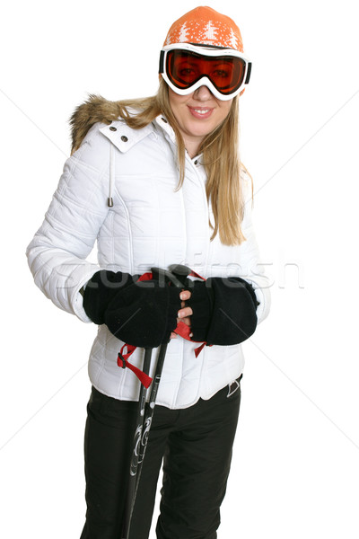 Female in ski clothing Stock photo © lovleah