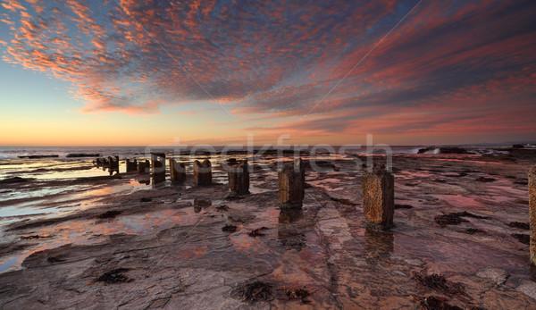 Sunrise over Coledale rockshelf Stock photo © lovleah
