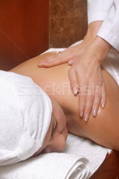 Masaj tedavi kadın rahatlatıcı tedavi Stok fotoğraf © lovleah
