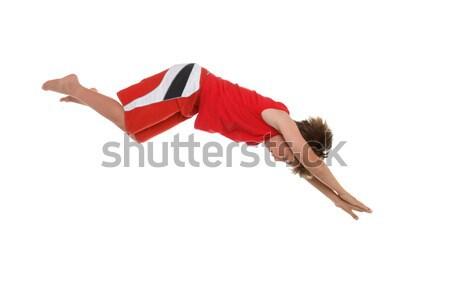 ダイビング 右 少年 ダイビング アクション 運動 ストックフォト © lovleah