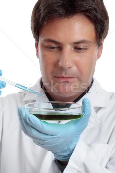 Scientist researcher experiment lab work Stock photo © lovleah