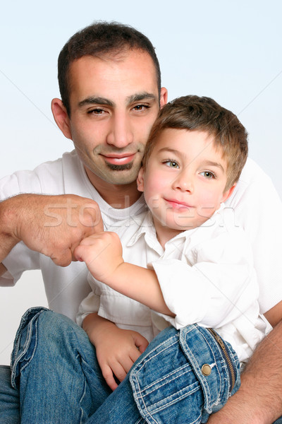 Father and son best mates Stock photo © lovleah
